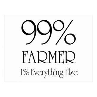 99% Farmer Postcard