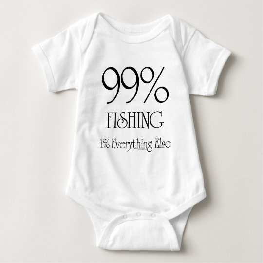 99% Fishing Baby Bodysuit