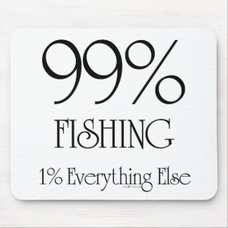 99% Fishing Mouse Pad