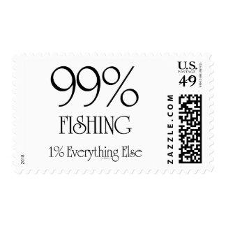 99% Fishing Postage Stamp