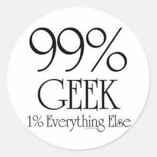 99% Geek Classic Round Sticker