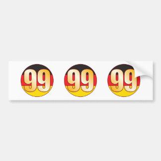 99 GERMANY Gold Bumper Sticker