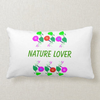 99  GIFTS : Nature Lover Girly Flower Prints Lumbar Pillow