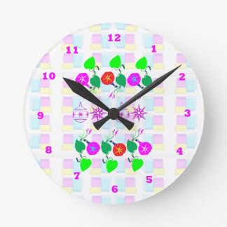 99  GIFTS : Nature Lover Girly Flower Prints Round Clock