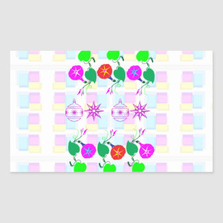 99  GIFTS : Nature Lover Girly Flower Prints Rectangular Stickers
