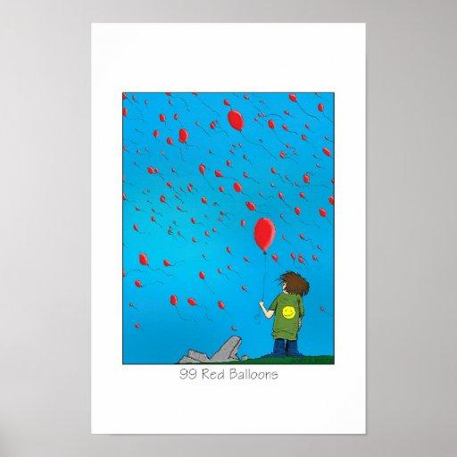 99 globos rojos póster