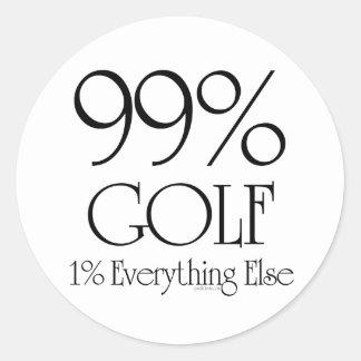 99% Golf Classic Round Sticker