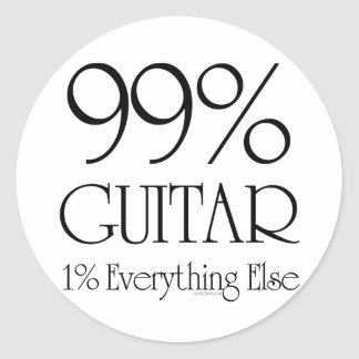99% Guitar Classic Round Sticker