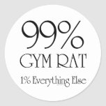 99% Gym Rat Stickers