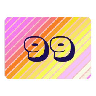 99 - Invitación del fiesta de la tarjeta de los
