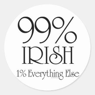 99% Irish Classic Round Sticker