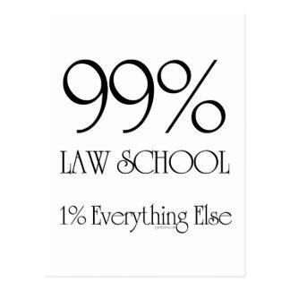 99% Law School Postcard