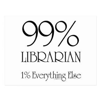 99% Librarian Postcard