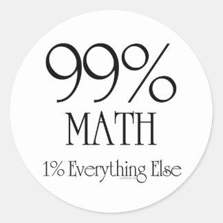 99% Math Classic Round Sticker