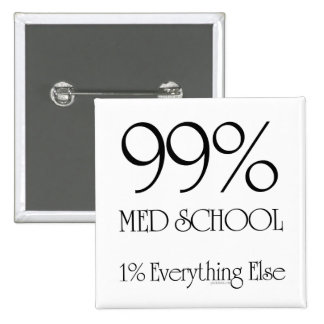 99% Med School 2 Inch Square Button