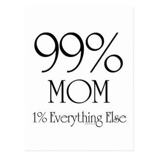99% Mom Post Card