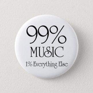 99% Music Pinback Button
