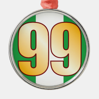 99 NIGERIA Gold Metal Ornament