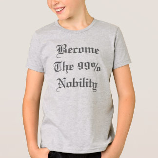 99% Nobility Crest Occupy Statement Kids T-Shirt