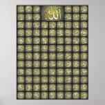 99   nombres de Alá en una impresión Posters