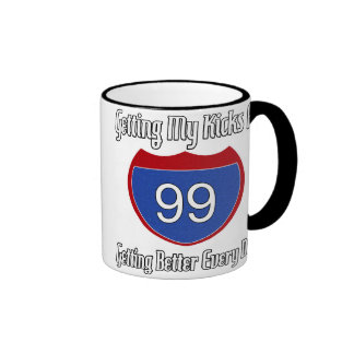 99 o cumpleaños de la ruta 66 taza