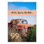 99.o cumpleaños feliz DIVERTIDO - camión del naran Tarjeton