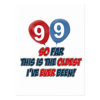 99.o diseño año del cumpleaños tarjeta postal
