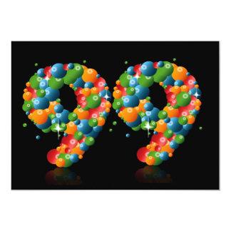 99.o Fiesta de cumpleaños, con las burbujas y las Comunicados