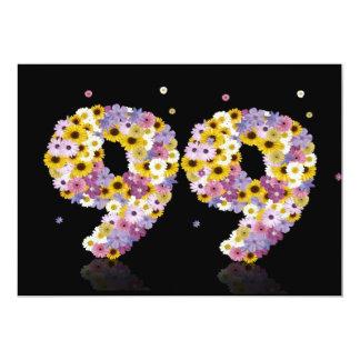 """99.o Fiesta de cumpleaños, con las letras Invitación 5"""" X 7"""""""
