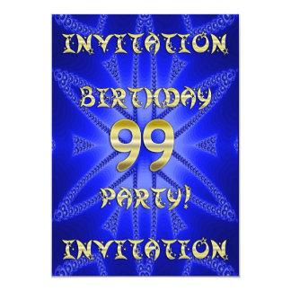 99.o Invitación de la fiesta de cumpleaños