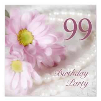 99.o Invitación de la fiesta de cumpleaños con las