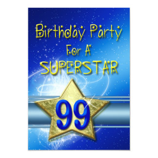 99.o Invitación de la fiesta de cumpleaños para un