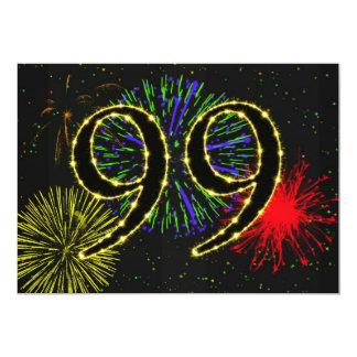 """99.o invitate de la fiesta de cumpleaños invitación 5"""" x 7"""""""