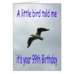 99.o pájaro feliz de la gaviota del vuelo del cump felicitacion