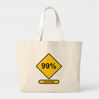99% Occupied Large Tote Bag
