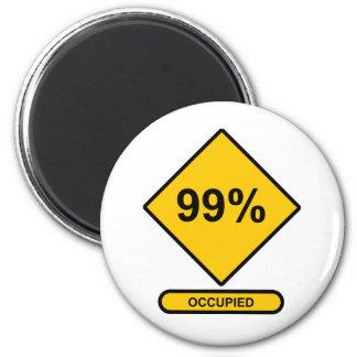 99% Occupied Fridge Magnet