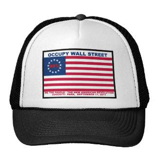 99% Occupy Wall Street Flag The New Revolution Trucker Hat