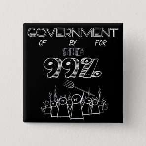 99% occupy wall street movement button