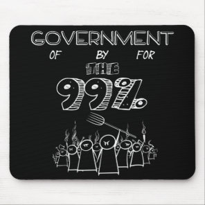 99% occupy wall street movement mouse pad