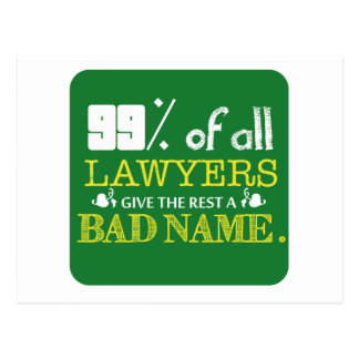 99% of all Lawyers Postcard