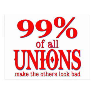 99% Of All Unions Make The Rest Look Bad Postcard