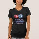99.os diseños años del cumpleaños camisetas
