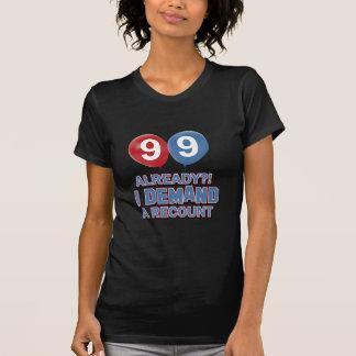99.os diseños años del cumpleaños camiseta