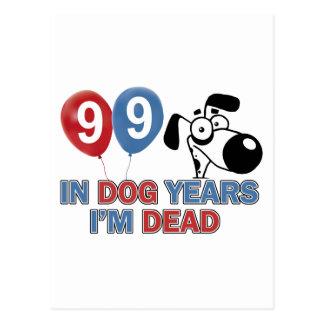 99.os diseños años del cumpleaños postales