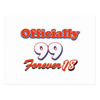 99.os diseños años del cumpleaños tarjeta postal