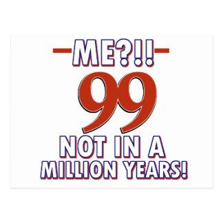 99.os diseños años del cumpleaños tarjetas postales