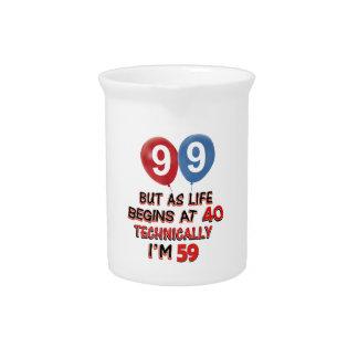 99.os diseños del cumpleaños del año jarra de beber