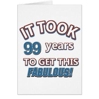 99.os diseños del cumpleaños del año tarjeta de felicitación