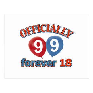 99.os diseños del cumpleaños tarjeta postal