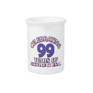 99.os diseños divertidos del cumpleaños jarrones